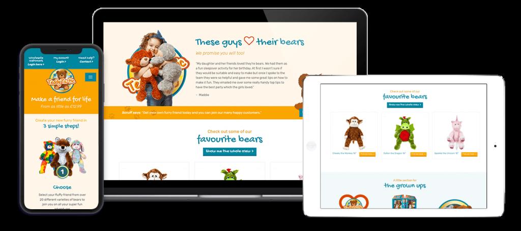 Teddy Tastic Website Design By Melt Creative