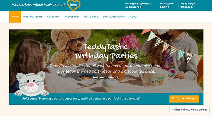 Teddy Tastic - By Melt Web design warwick