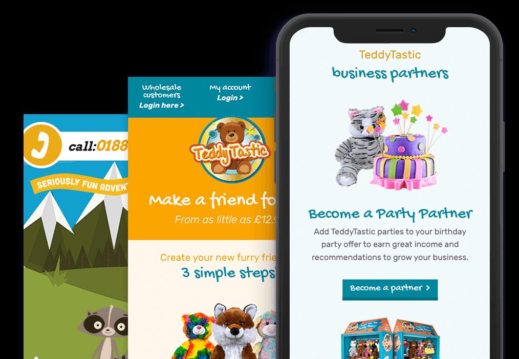 Teddy Tastic - Mobile Web development warwickshire