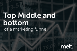 Top Middle and bottom of a marketing funnel