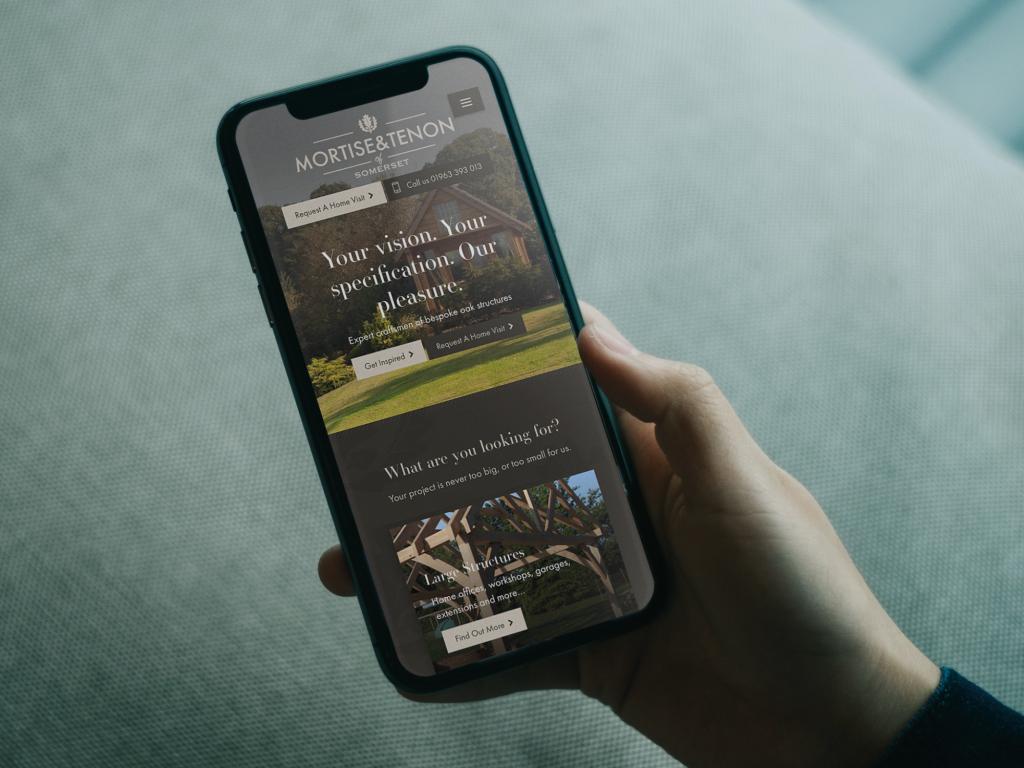 Mortise and Tenon Website Design