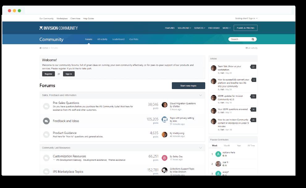IP Board Membership Community Forums System