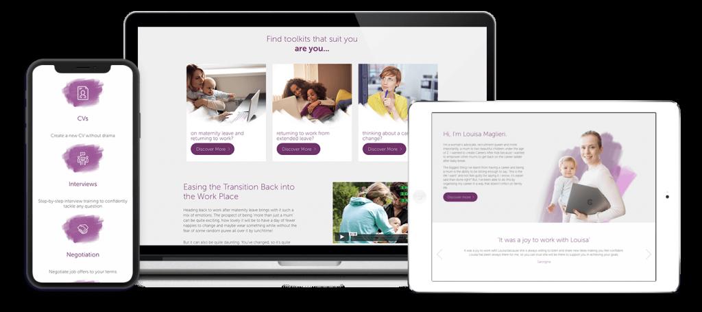Careers After Kids Website Design