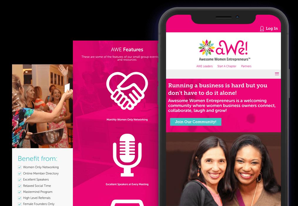 Awe Membership Mobile Website