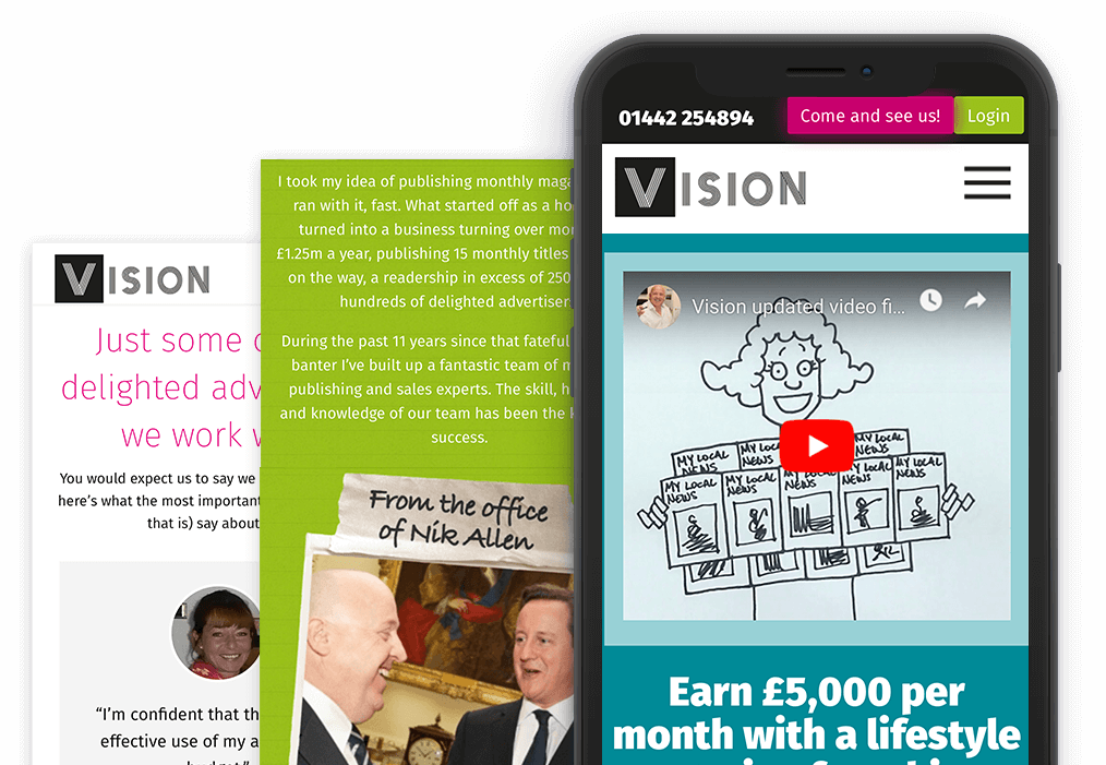 Vision Magazine Mobile Website Design