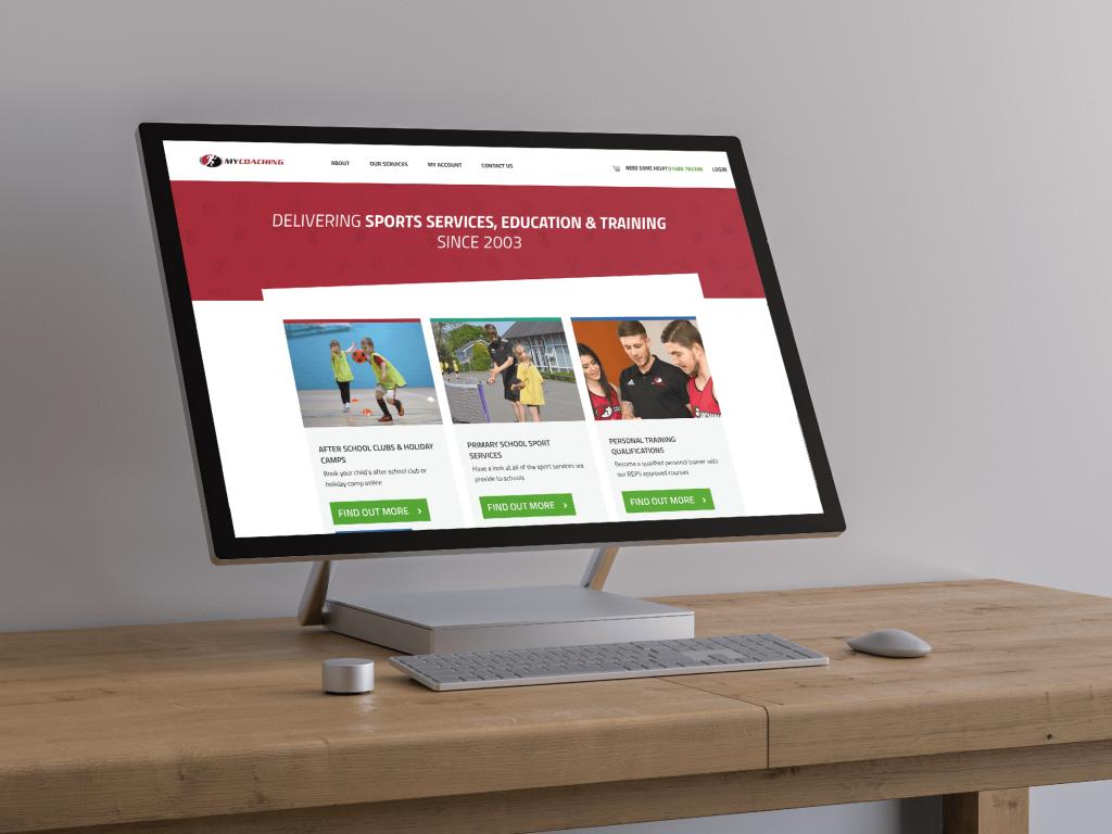 Sports Coaching Website Design