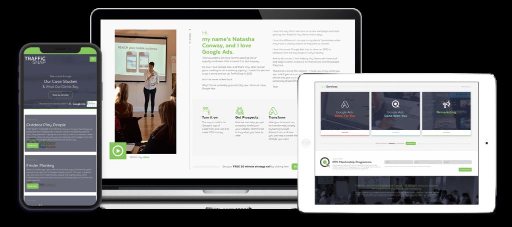Traffic Snap Marketing Agency Website Design