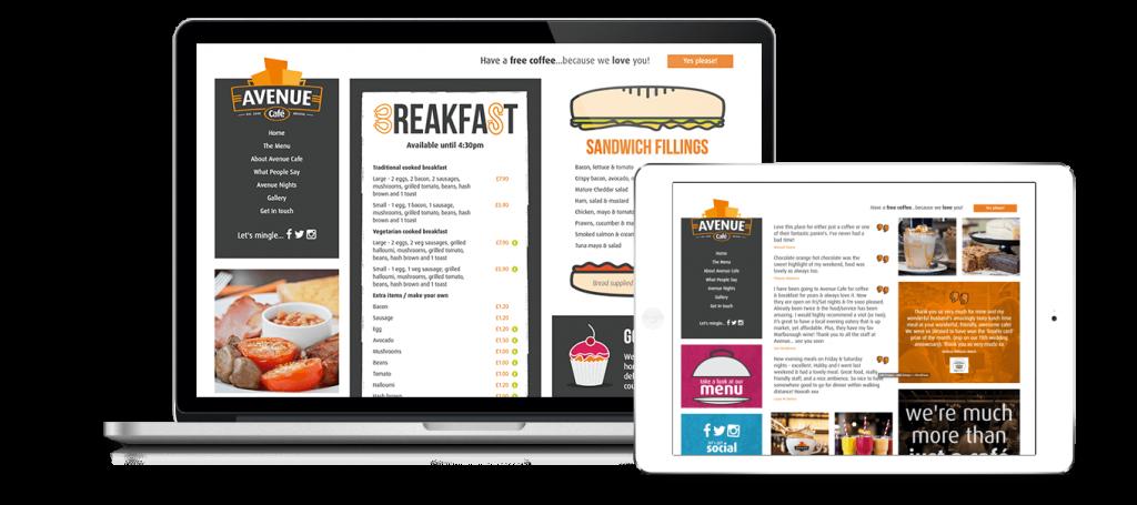 Avenue Cafe Website Design