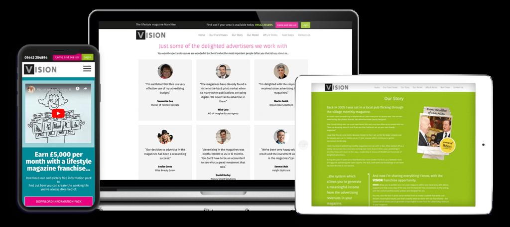 VisionMag Wordpress Website Design
