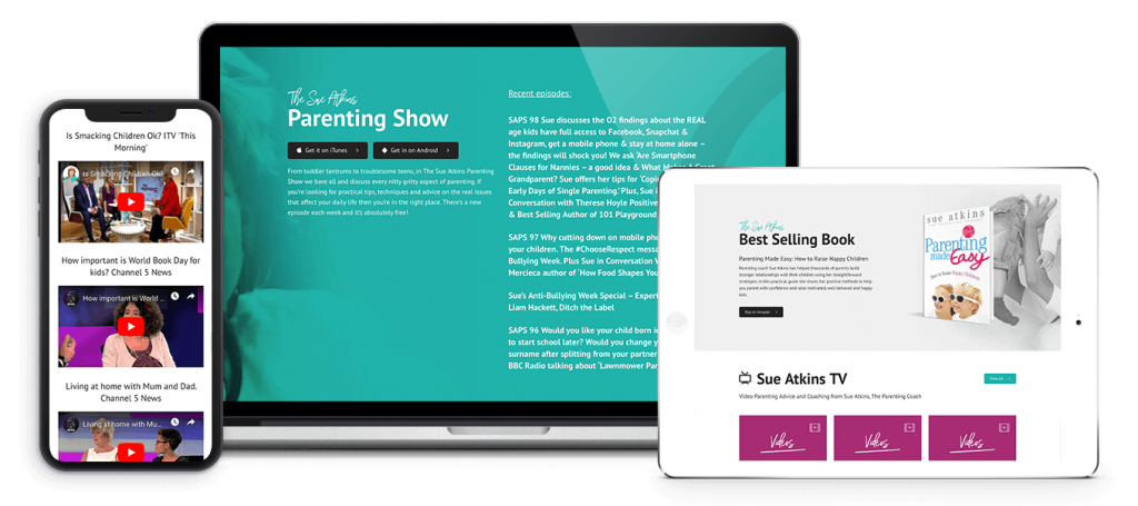 Parenting Membership Website - Sue Atkins