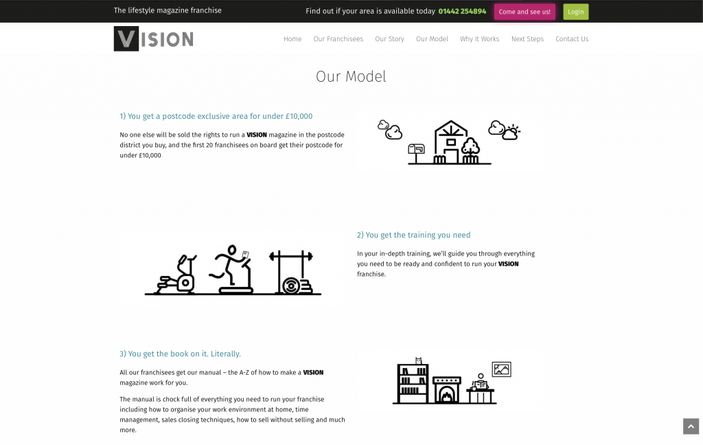 VisionMag Website Design