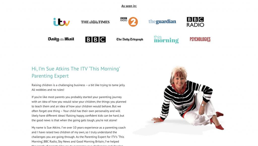 Sue Atkins Parenting Membership Website